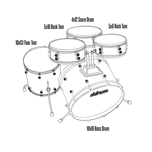 D1 Junior - Police blue - Complete drum set with cymbals