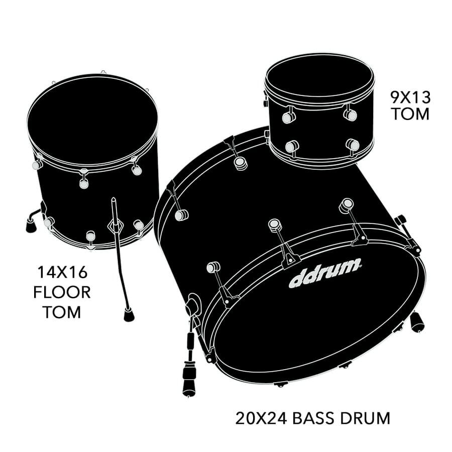 Dios Maple 3pc  Emerald Green Sparkle Shell Pack
