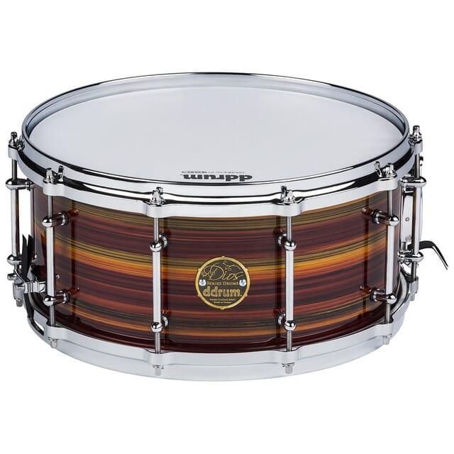 Dios Maple Striped Lacquer Snare Drum