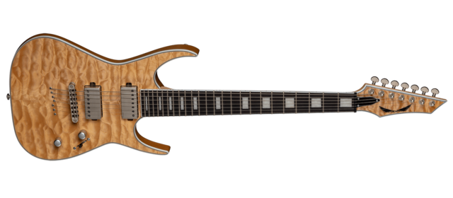 Exile 7 String Quilt Maple Satin Natural