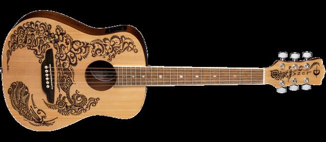 Safari Henna Paradise Travel Guitar Pack