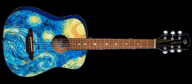 Safari Starry Night Travel Guitar w/ Gigbag