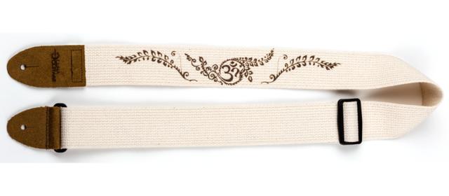 Henna Pattern Cotton Cream Guitar Strap