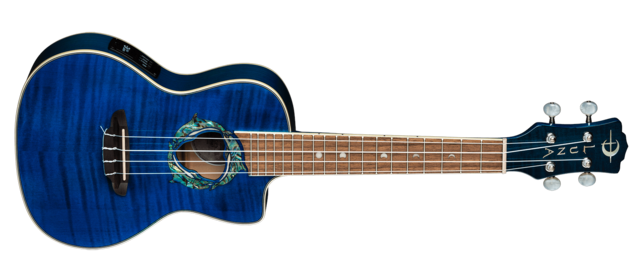 Uke Dolphin Flame Maple Concert w/ Preamp