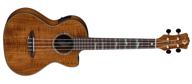 Uke High Tide Tenor Koa w/ Preamp