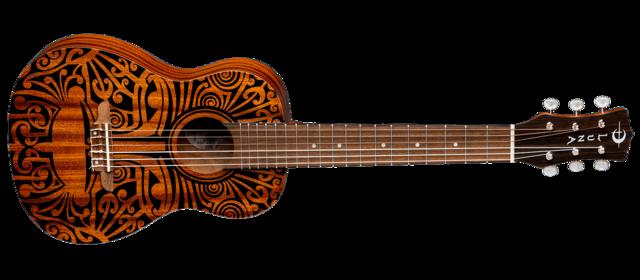 Uke Tribal 6-String Guitarlele - Mahogany