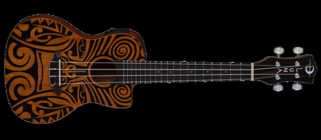 Uke Tribal Concert Cutaway w/ Preamp - Mahogany