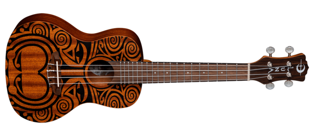 Uke Tribal Concert - Mahogany
