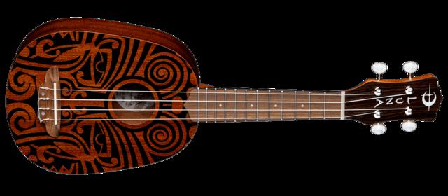 Uke Tribal Pineapple - Mahogany