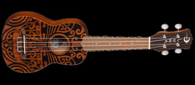 Uke Tribal Soprano - Mahogany