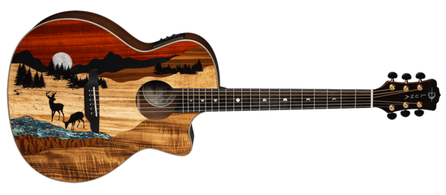 Vista Deer Tropical Wood A/E with Hardshell Case